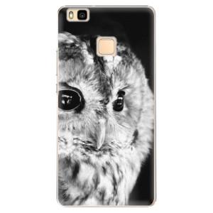 Plastové pouzdro iSaprio BW Owl na mobil Huawei P9 Lite