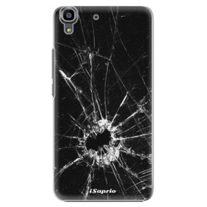 Plastové pouzdro iSaprio Broken Glass 10 na mobil Huawei Y6