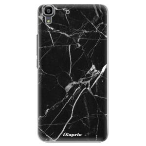 Plastové pouzdro iSaprio Black Marble 18 na mobil Huawei Y6