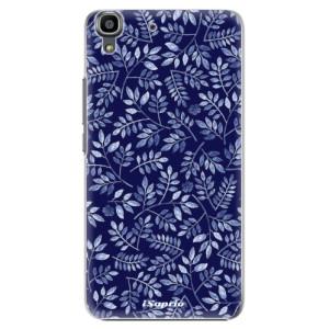Plastové pouzdro iSaprio Blue Leaves 05 na mobil Huawei Y6