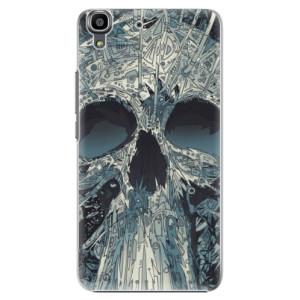 Plastové pouzdro iSaprio Abstract Skull na mobil Huawei Y6