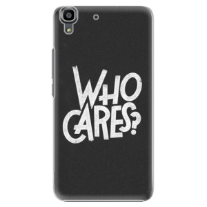 Plastové pouzdro iSaprio Who Cares na mobil Huawei Y6