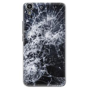 Plastové pouzdro iSaprio Cracked na mobil Huawei Y6