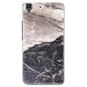 Plastové pouzdro iSaprio BW Marble na mobil Huawei Y6