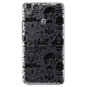 Plastové pouzdro iSaprio Comics 01 black na mobil Huawei Y6