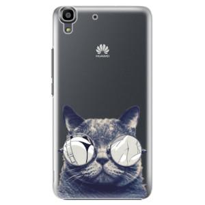 Plastové pouzdro iSaprio Crazy Cat 01 na mobil Huawei Y6