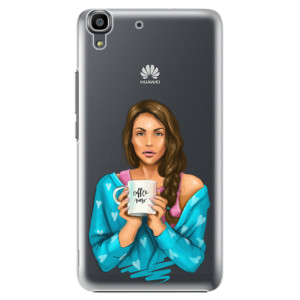 Plastové pouzdro iSaprio Coffe Now Brunette na mobil Huawei Y6