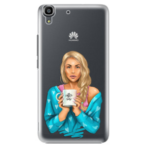 Plastové pouzdro iSaprio Coffe Now Blond na mobil Huawei Y6
