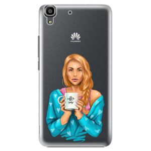 Plastové pouzdro iSaprio Coffe Now Redhead na mobil Huawei Y6