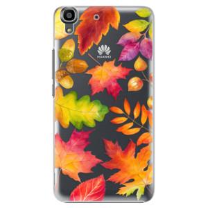 Plastové pouzdro iSaprio Autumn Leaves 01 na mobil Huawei Y6