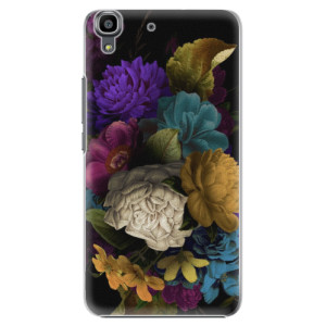 Plastové pouzdro iSaprio Dark Flowers na mobil Huawei Y6
