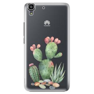 Plastové pouzdro iSaprio Cacti 01 na mobil Huawei Y6