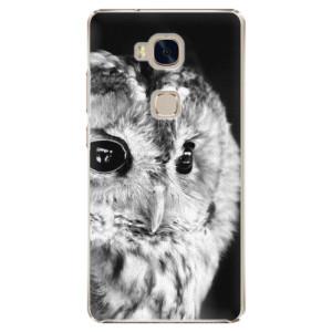 Plastové pouzdro iSaprio BW Owl na mobil Huawei Honor 5X