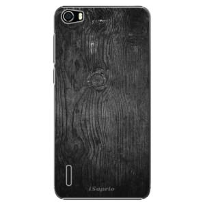 Plastové pouzdro iSaprio Black Wood 13 na mobil Huawei Honor 6