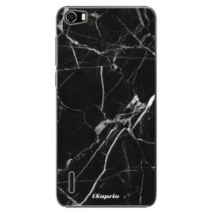 Plastové pouzdro iSaprio Black Marble 18 na mobil Huawei Honor 6