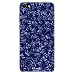 Plastové pouzdro iSaprio Blue Leaves 05 na mobil Huawei Honor 6