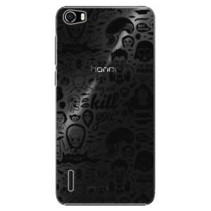 Plastové pouzdro iSaprio Comics 01 black na mobil Huawei Honor 6