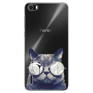 Plastové pouzdro iSaprio Crazy Cat 01 na mobil Huawei Honor 6