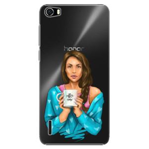 Plastové pouzdro iSaprio Coffe Now Brunette na mobil Huawei Honor 6