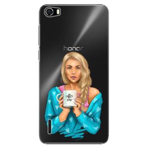 Plastové pouzdro iSaprio Coffe Now Blond na mobil Huawei Honor 6