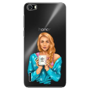 Plastové pouzdro iSaprio Coffe Now Redhead na mobil Huawei Honor 6