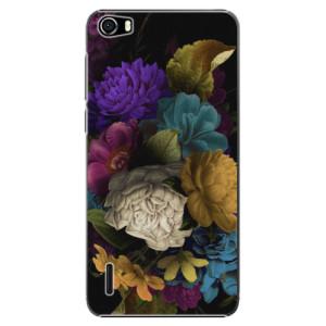 Plastové pouzdro iSaprio Dark Flowers na mobil Huawei Honor 6
