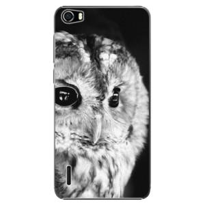 Plastové pouzdro iSaprio BW Owl na mobil Huawei Honor 6