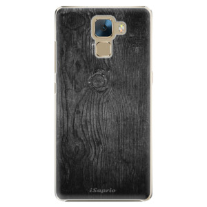 Plastové pouzdro iSaprio Black Wood 13 na mobil Huawei Honor 7