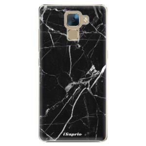 Plastové pouzdro iSaprio Black Marble 18 na mobil Huawei Honor 7