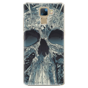 Plastové pouzdro iSaprio Abstract Skull na mobil Honor 7