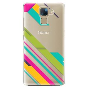 Plastové pouzdro iSaprio Color Stripes 03 na mobil Huawei Honor 7