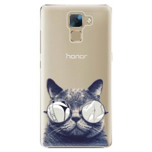 Plastové pouzdro iSaprio Crazy Cat 01 na mobil Huawei Honor 7