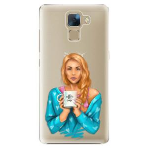 Plastové pouzdro iSaprio Coffe Now Redhead na mobil Huawei Honor 7