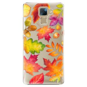 Plastové pouzdro iSaprio Autumn Leaves 01 na mobil Honor 7