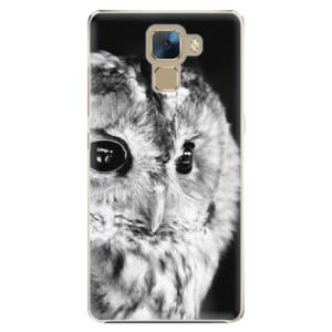 Plastové pouzdro iSaprio BW Owl na mobil Huawei Honor 7
