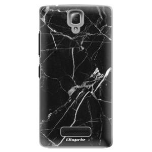 Plastové pouzdro iSaprio Black Marble 18 na mobil Lenovo A2010