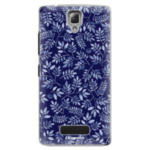 Plastové pouzdro iSaprio Blue Leaves 05 na mobil Lenovo A2010