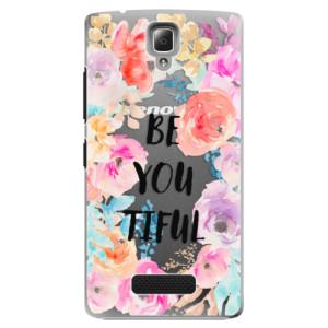 Plastové pouzdro iSaprio BeYouTiful na mobil Lenovo A2010