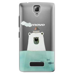 Plastové pouzdro iSaprio Bear With Boat na mobil Lenovo A2010