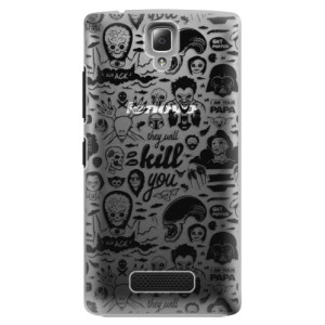 Plastové pouzdro iSaprio Comics 01 black na mobil Lenovo A2010