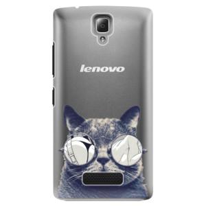 Plastové pouzdro iSaprio Crazy Cat 01 na mobil Lenovo A2010