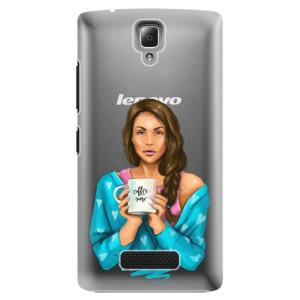 Plastové pouzdro iSaprio Coffe Now Brunette na mobil Lenovo A2010