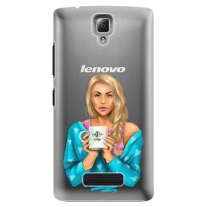 Plastové pouzdro iSaprio Coffe Now Blond na mobil Lenovo A2010