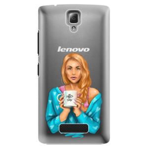 Plastové pouzdro iSaprio Coffe Now Redhead na mobil Lenovo A2010