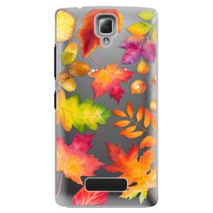 Plastové pouzdro iSaprio Autumn Leaves 01 na mobil Lenovo A2010