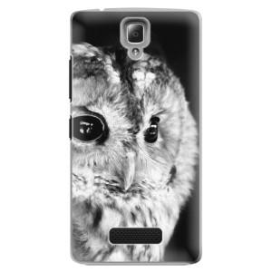 Plastové pouzdro iSaprio BW Owl na mobil Lenovo A2010