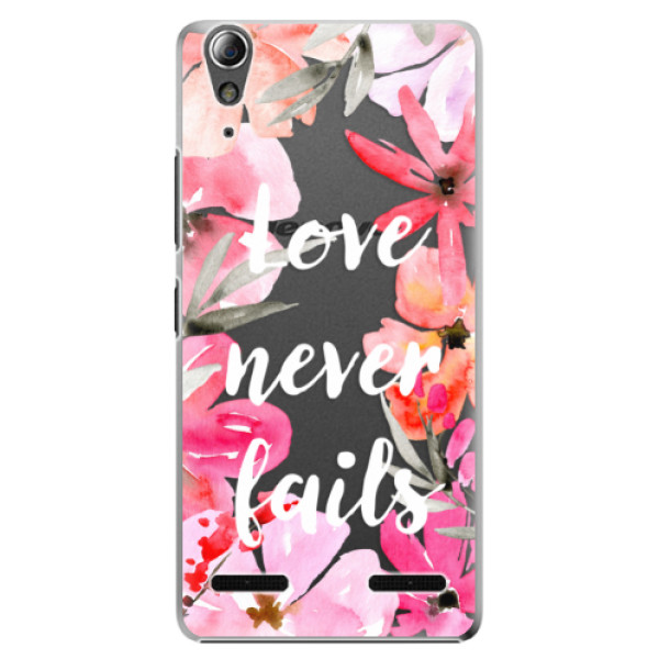 Plastové pouzdro iSaprio Love Never Fails na mobil Lenovo A6000 / K3 (Plastový obal, kryt, pouzdro iSaprio Love Never Fails na mobilní telefon Lenovo A6000 / K3)
