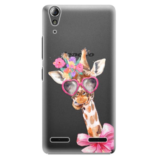 Plastové pouzdro iSaprio Lady Giraffe na mobil Lenovo A6000 / K3 (Plastový obal, kryt, pouzdro iSaprio Lady Giraffe na mobilní telefon Lenovo A6000 / K3)