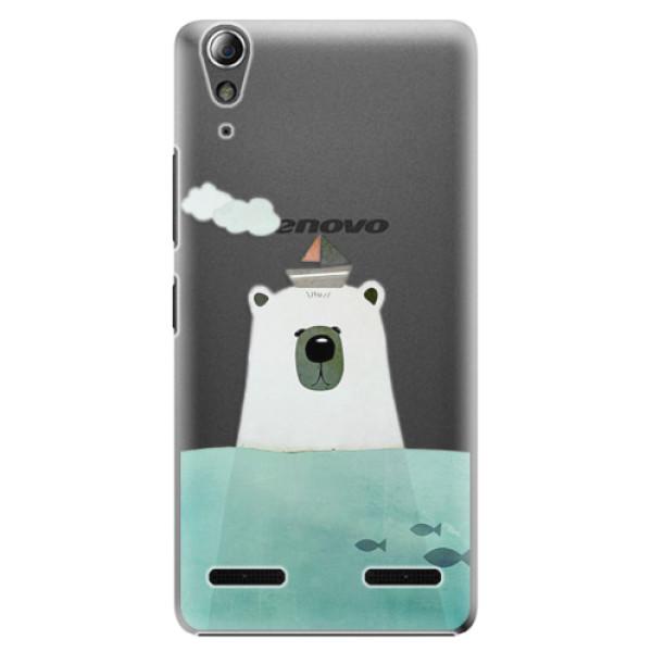 Plastové pouzdro iSaprio Bear With Boat na mobil Lenovo A6000 / K3 (Plastový obal, kryt, pouzdro iSaprio Bear With Boat na mobilní telefon Lenovo A6000 / K3)