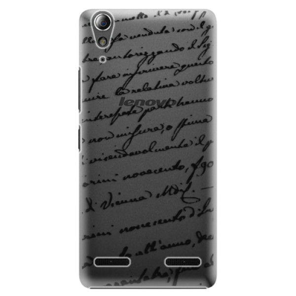 Plastové pouzdro iSaprio Handwriting 01 black na mobil Lenovo A6000 / K3 (Plastový obal, kryt, pouzdro iSaprio Handwriting 01 black na mobilní telefon Lenovo A6000 / K3)